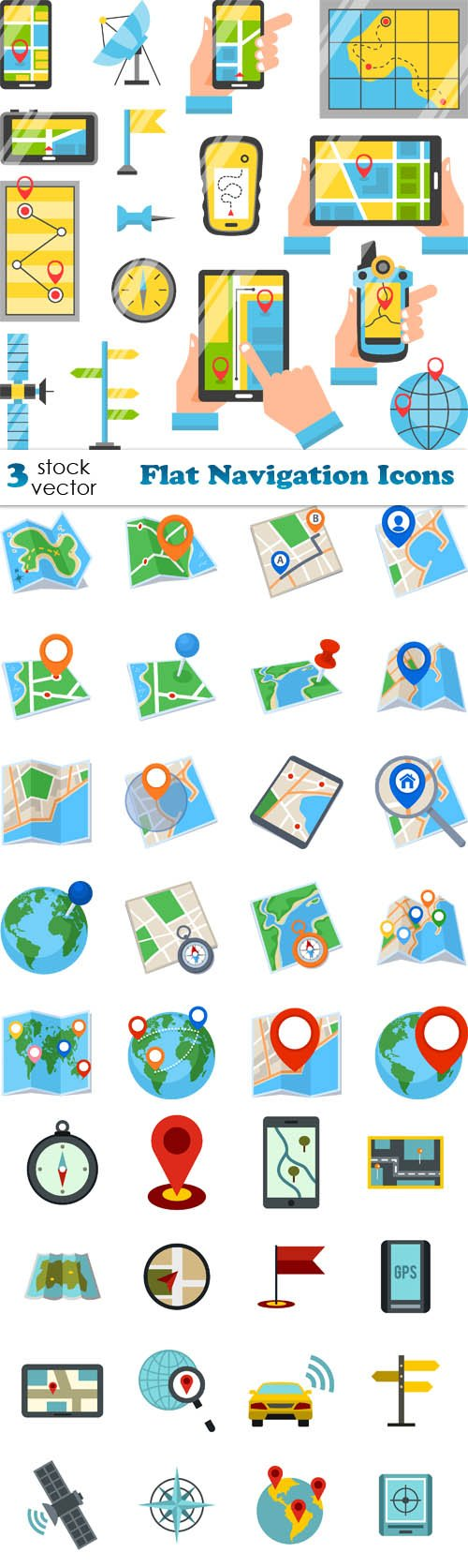 Vectors - Flat Navigation Icons