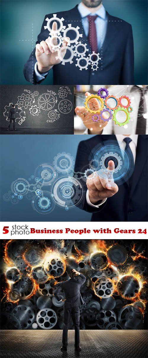 Photos - Business People with Gears 24