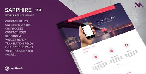 ThemeForest - Sapphire v1.3 - One Page Wordpress Template - 5369718