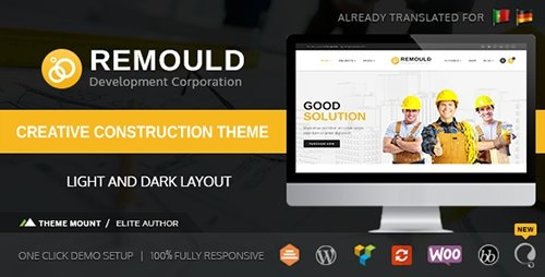 ThemeForest - Remould v5.0 - Construction & Building WordPress Theme - 12321094