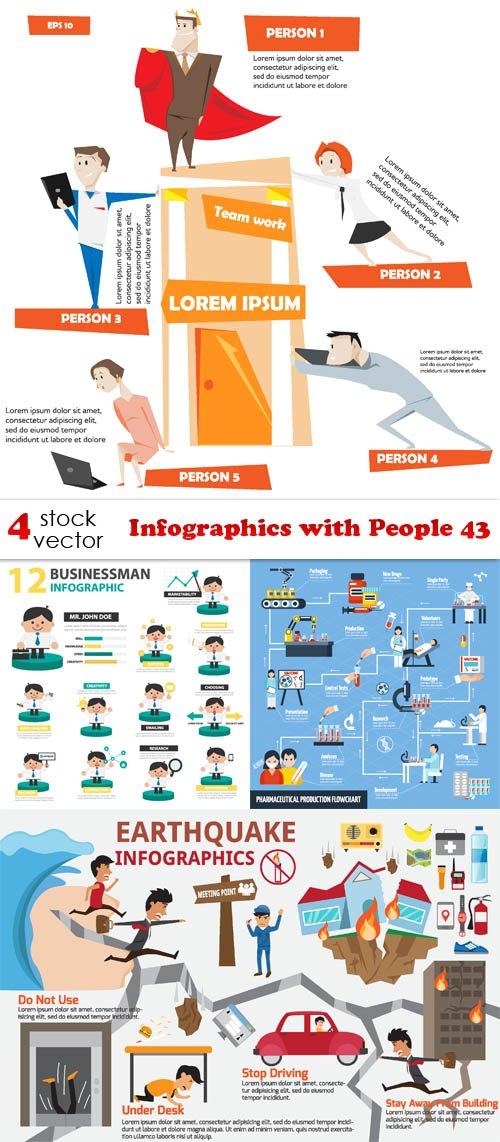 Vectors - Infographics with People 43