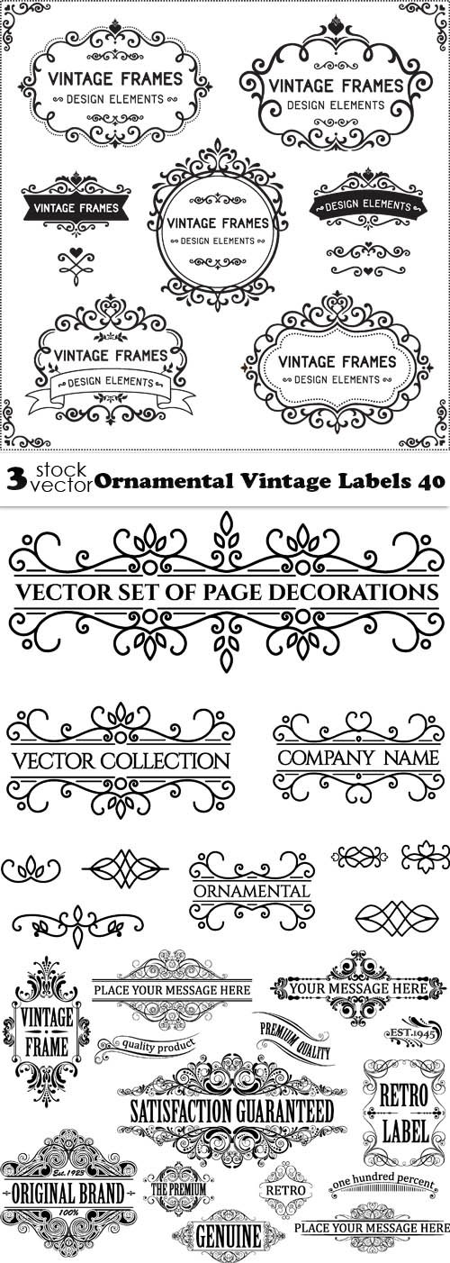 Vectors - Ornamental Vintage Labels 40