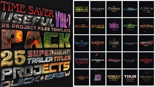 25 SuperHero Trailer Titles Pack - Project for After Effects (Videohive)