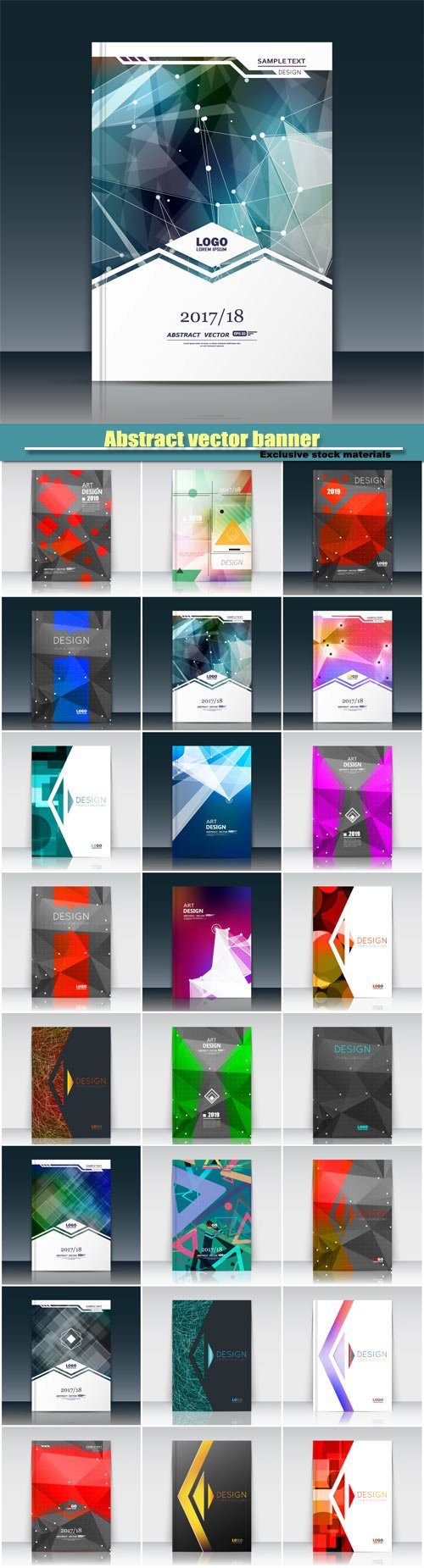 Abstract vector banner, brochure  template