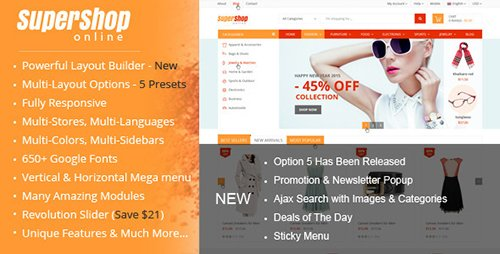 ThemeForest - SuperShop v2.9.0 - Multi-Purpose Responsive Prestashop Theme - 10186257