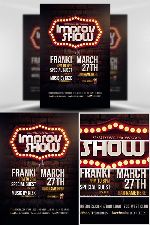 Flyer Template - Improv Show