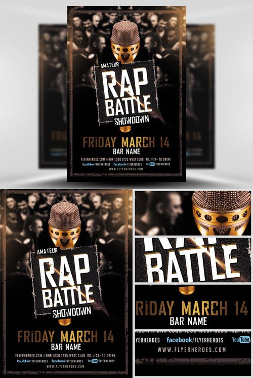 Flyer Template  Rap Battle Showdown  Nitrogfx  Download Unique