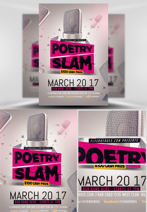 Flyer Template - Poetry Slam