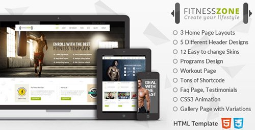 ThemeForest - Fitness Zone - Sports Template for Gym & Fitness (Update: 28 June 15) - 9868840