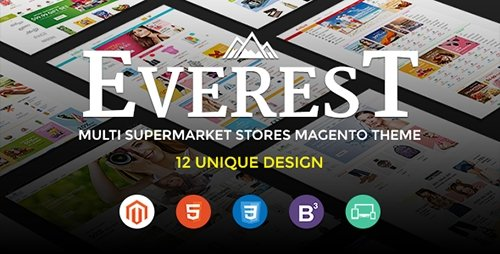 ThemeForest - Ultimate Grocery Outlet Store Premium Responsive Magento Theme - Everest v1.0 - 13474847