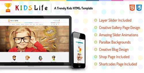TheemForest - Kids Life - A Trendy Kids HTML Template (Update: 28 June 15) - 8565477