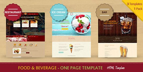 ThemeForest - Food & Beverages - One Page HTML5 Template (Update: 28 June 15) - 10068283