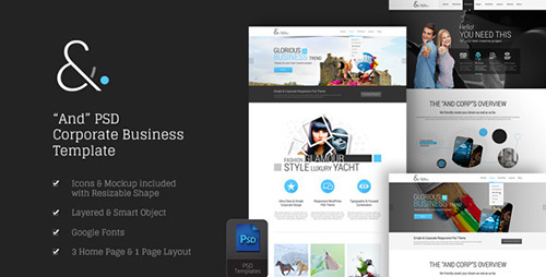 ThemeForest - And v1.0 - Corporate PSD - 8870732