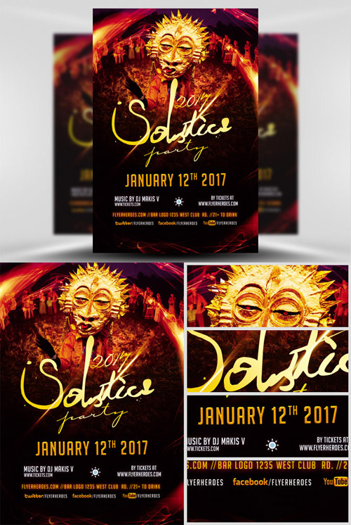 Flyer Template - 2017 Solstice Party
