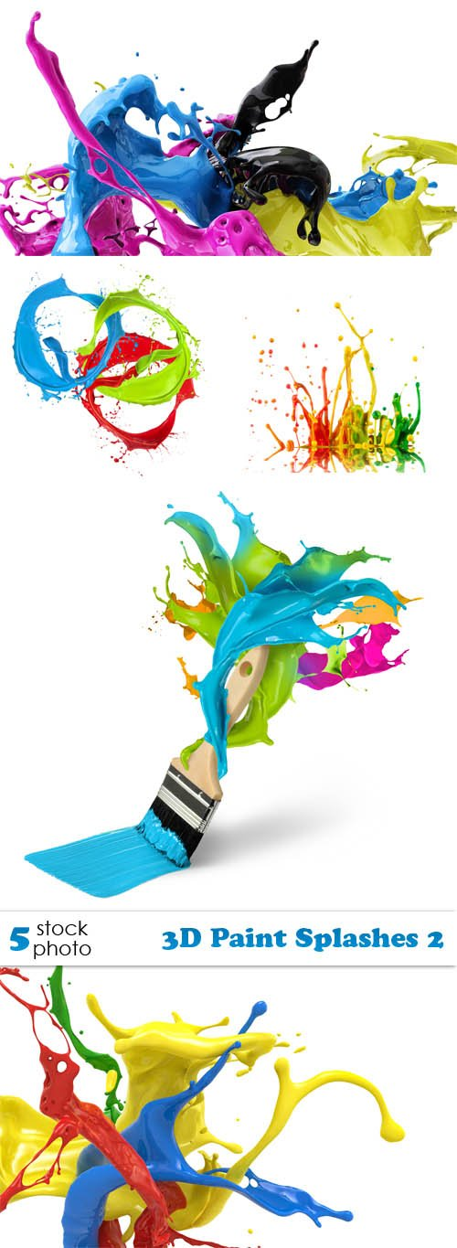 Photos - 3D Paint Splashes 2