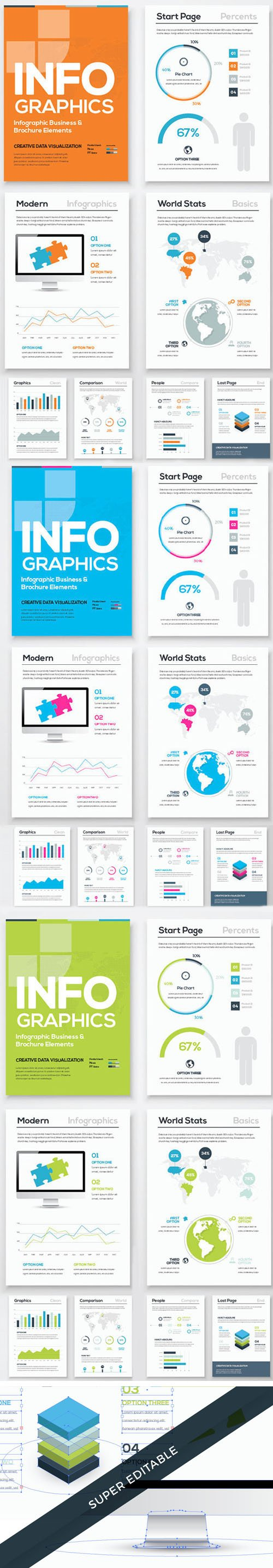 Infographic Brochure Vector Templates [AI/EPS]