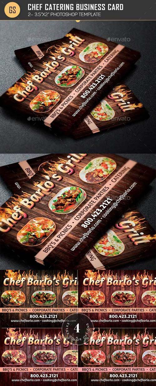 Chef Catering Business Card Template 19270713