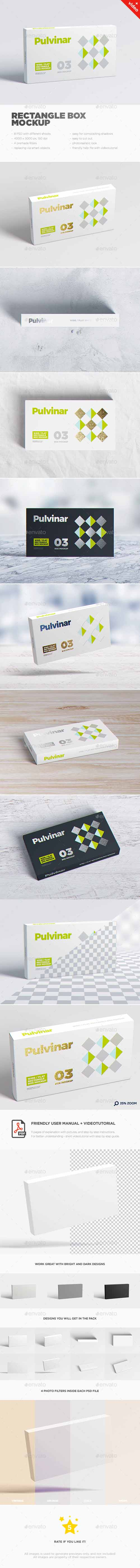 Box / Packaging MockUp - Wide/ Flat Rectangle 17626095