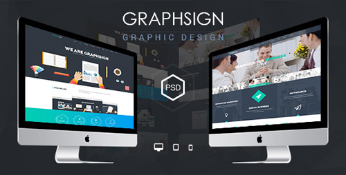 Graphsign - onepage PSD Template 12124583