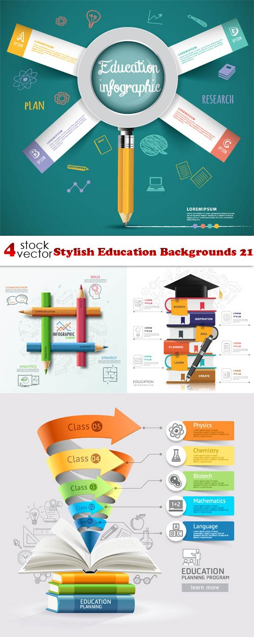 Vectors - Stylish Education Backgrounds 21