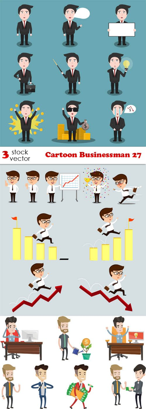 Vectors - Cartoon Businessman 27