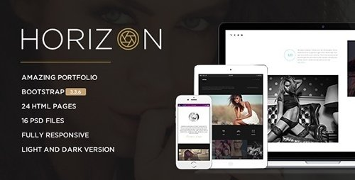 ThemeForest - Horizon v1.4 - Responsive Photography Template - 15147323