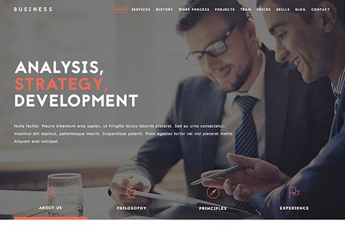 Business Responsive Website Template - CM 1107423