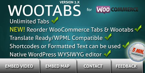 CodeCanyon - WooTabs v2.1.8 - Add Extra Tabs to WooCommerce Product Page - 7891253
