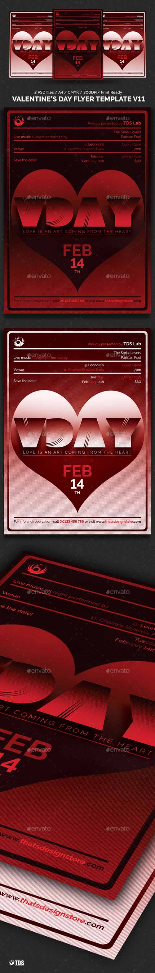 Valentines Day Flyer Template V11 19319516