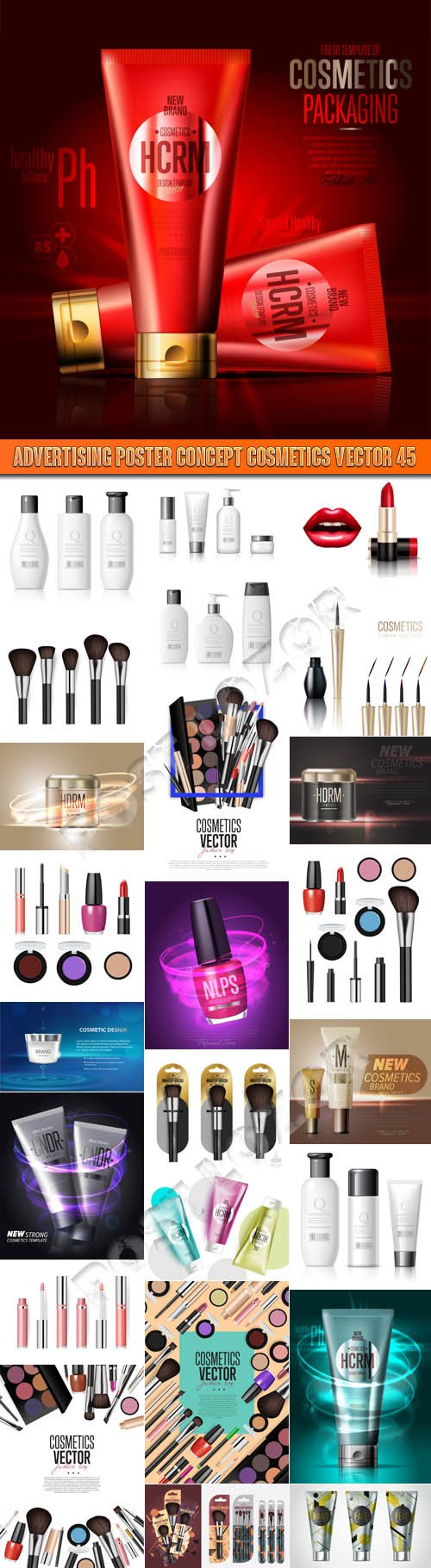Advertising Poster Concept Cosmetics vector 45