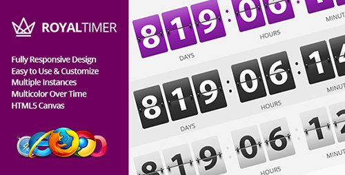 CodeGrape - RoyalTimer Multicolor Countdown Timer (Update: 27 December 16) - 11301