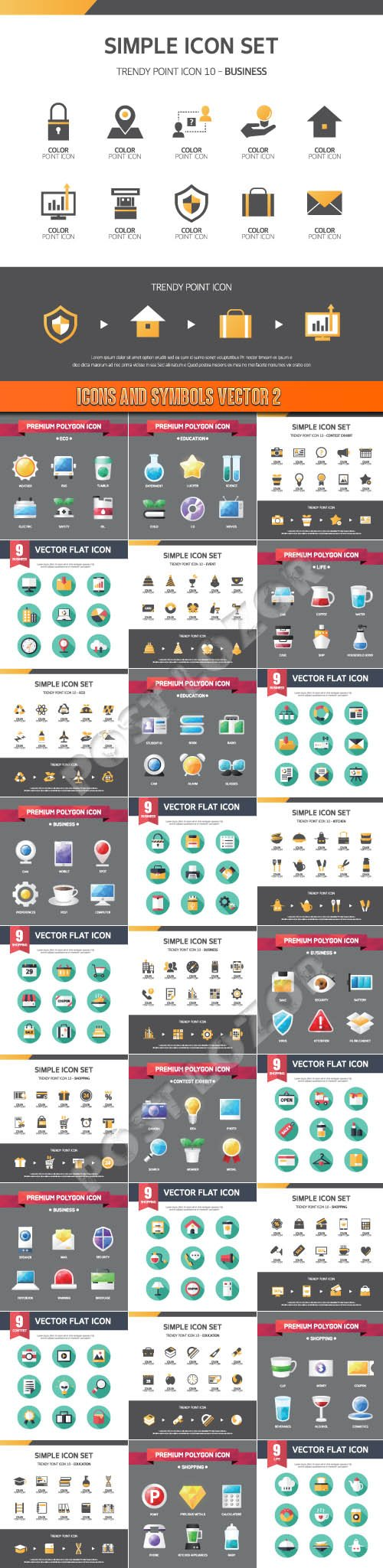 Icons and symbols vector 2