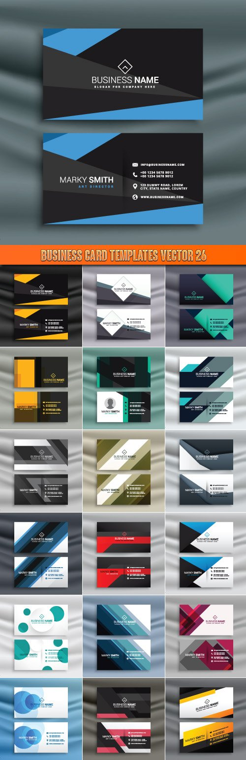 Business Card Templates vector 26