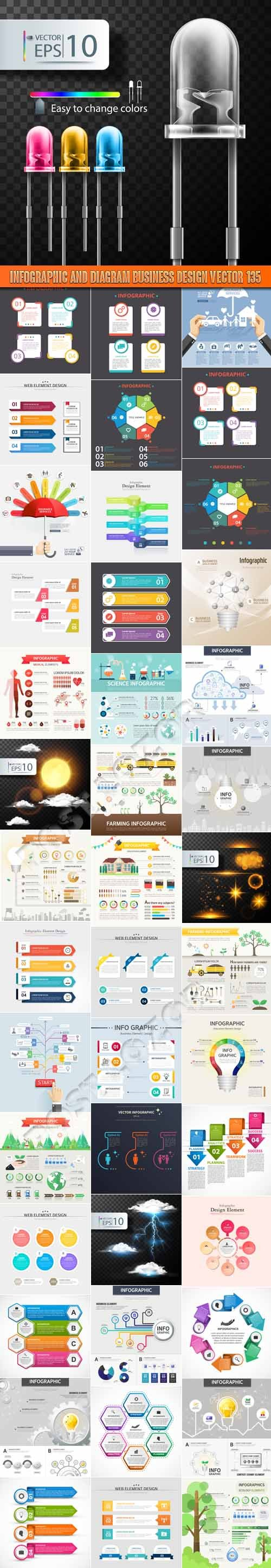 Infographic and diagram business design vector 135