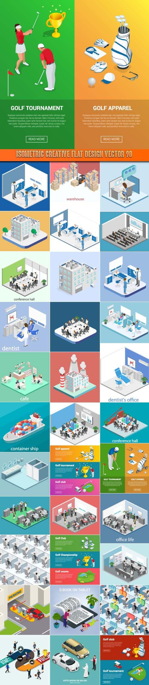 Isometric creative flat design vector 90