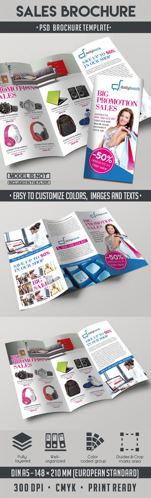 Big Sale Tri-fold Brochure PSD Template