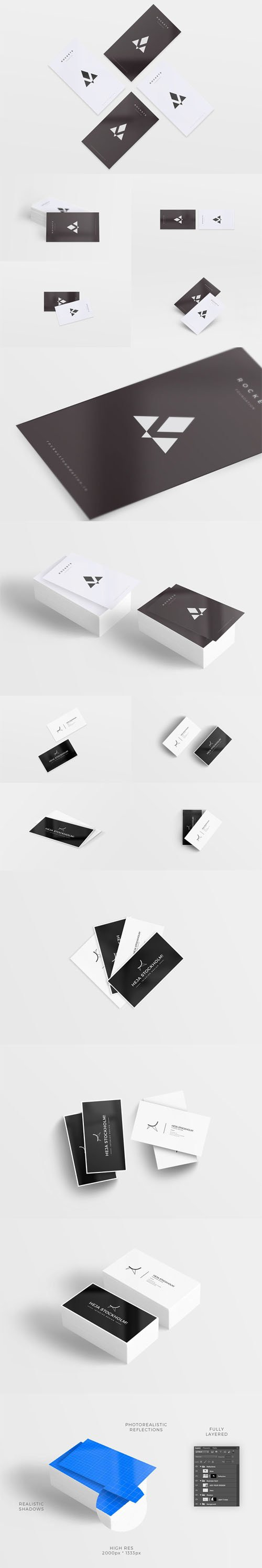16 Clean Business Card Mockups
