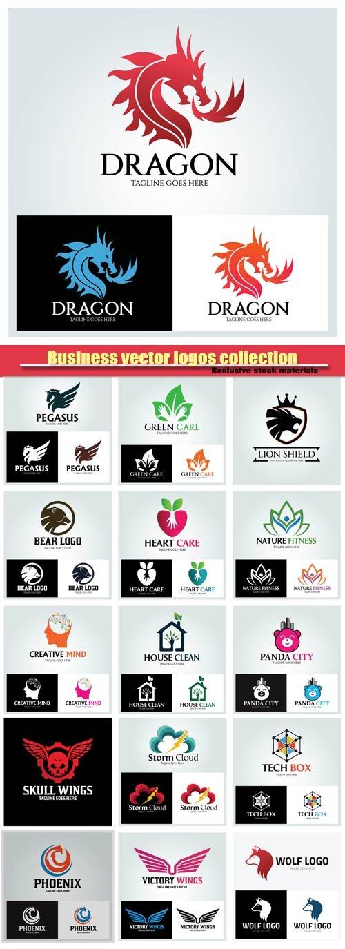 Business vector logos collection