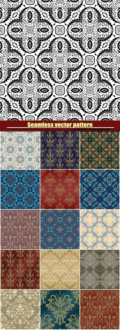 Seamless vector pattern, weave background