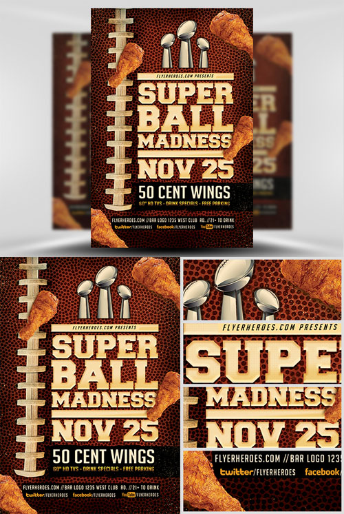 Flyer Template - Super Ball Madness v2