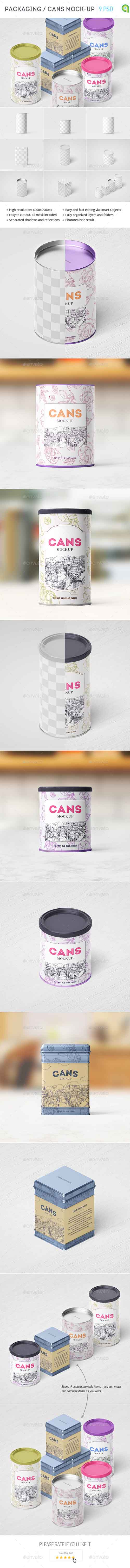 Packaging / Can Mockup 15375171