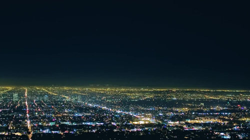 View of Los Angeles From a Height. Perfectly Visible the Entire City