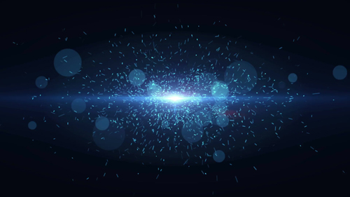 Particles dust abstract light bokeh motion titles cinematic background loop 2