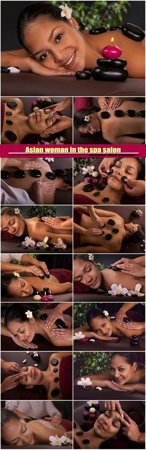 Asian woman in the spa salon, massage therapy