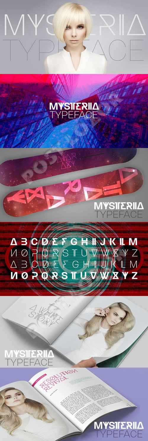 Mysteria typeface Font - $49.00