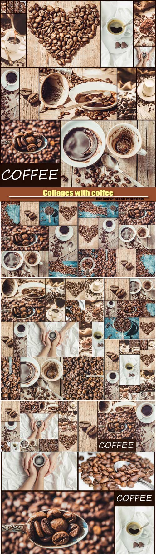 Collages with coffee