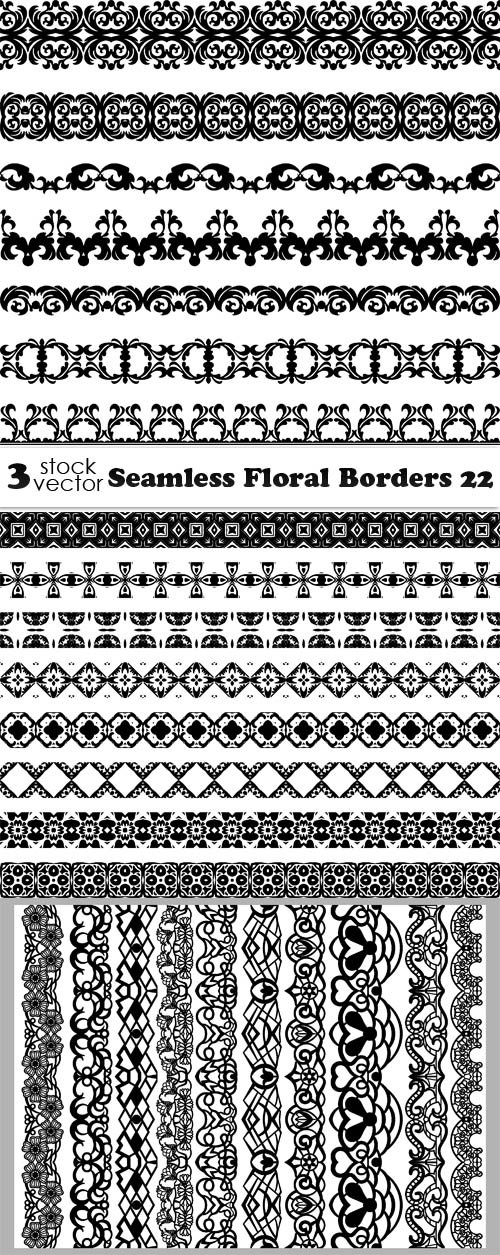 Vectors - Seamless Floral Borders 22