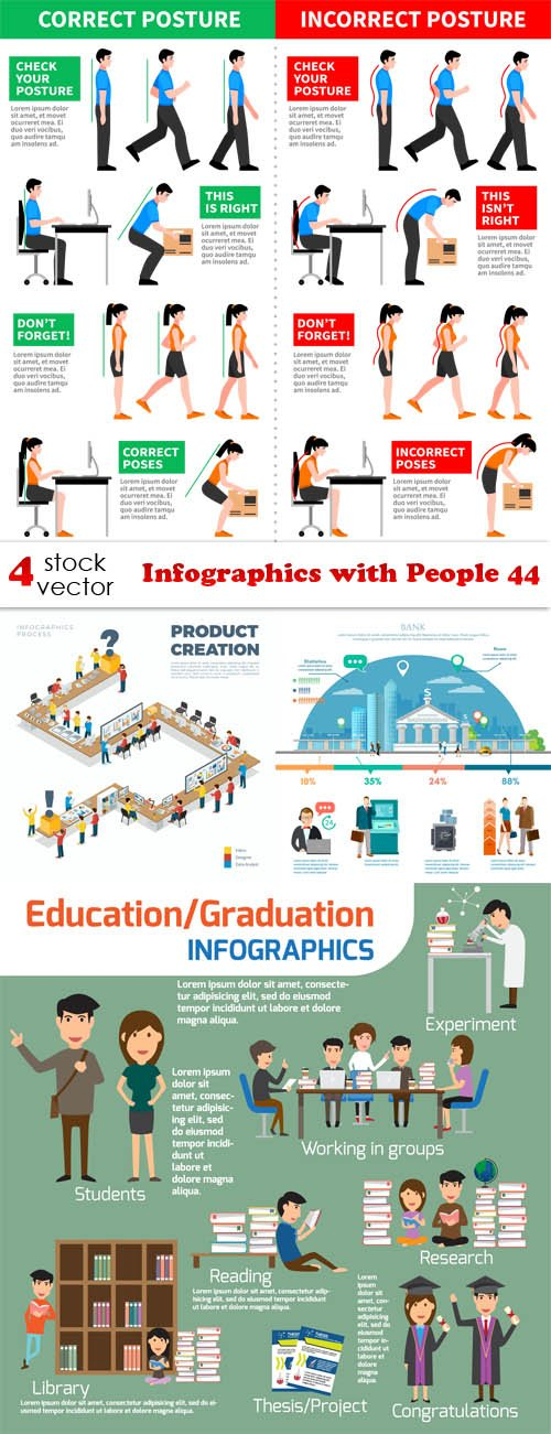 Vectors - Infographics with People 44