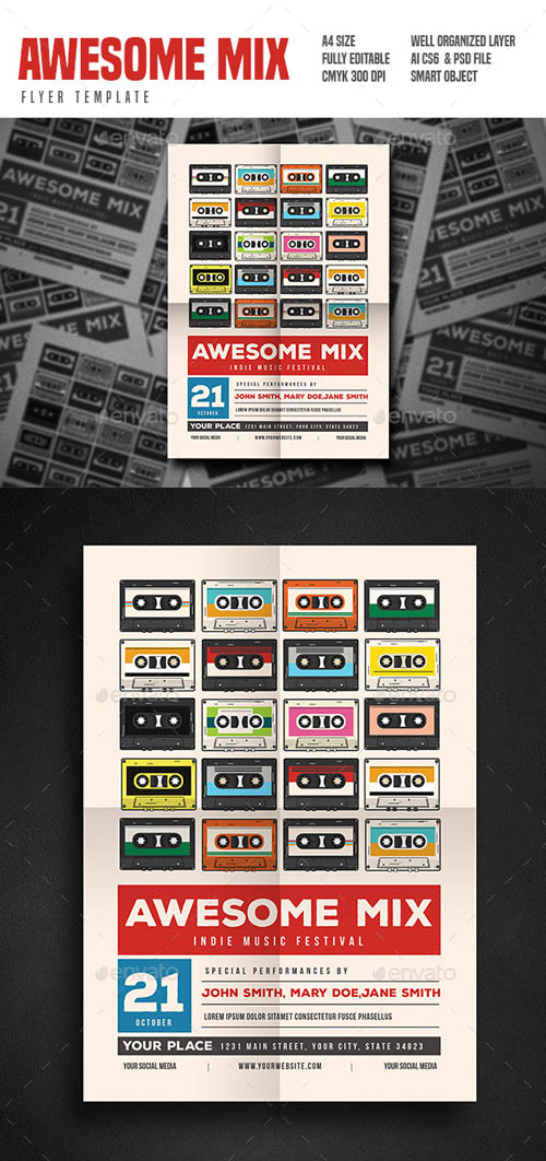 Awesome Mix Gigs Event Flyer 19294541