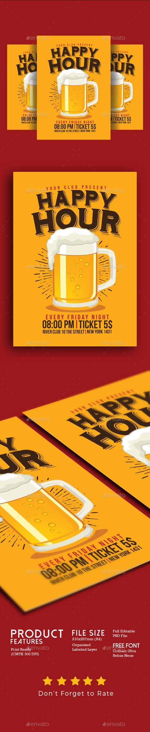 Happy Hour Beer Flyer 19364293